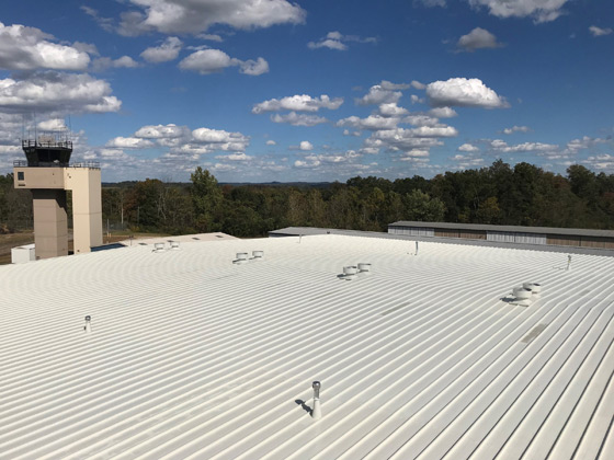 Silo Metal Roof Repair