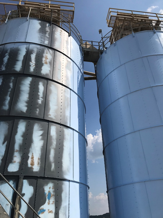 steel silos, tanks, vessels